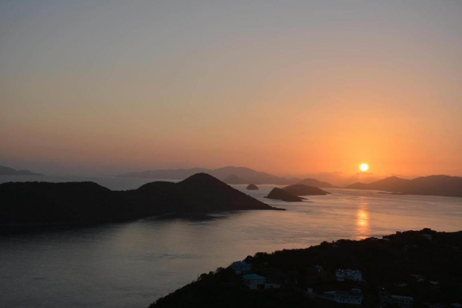 Sunset over US Virgin Islands