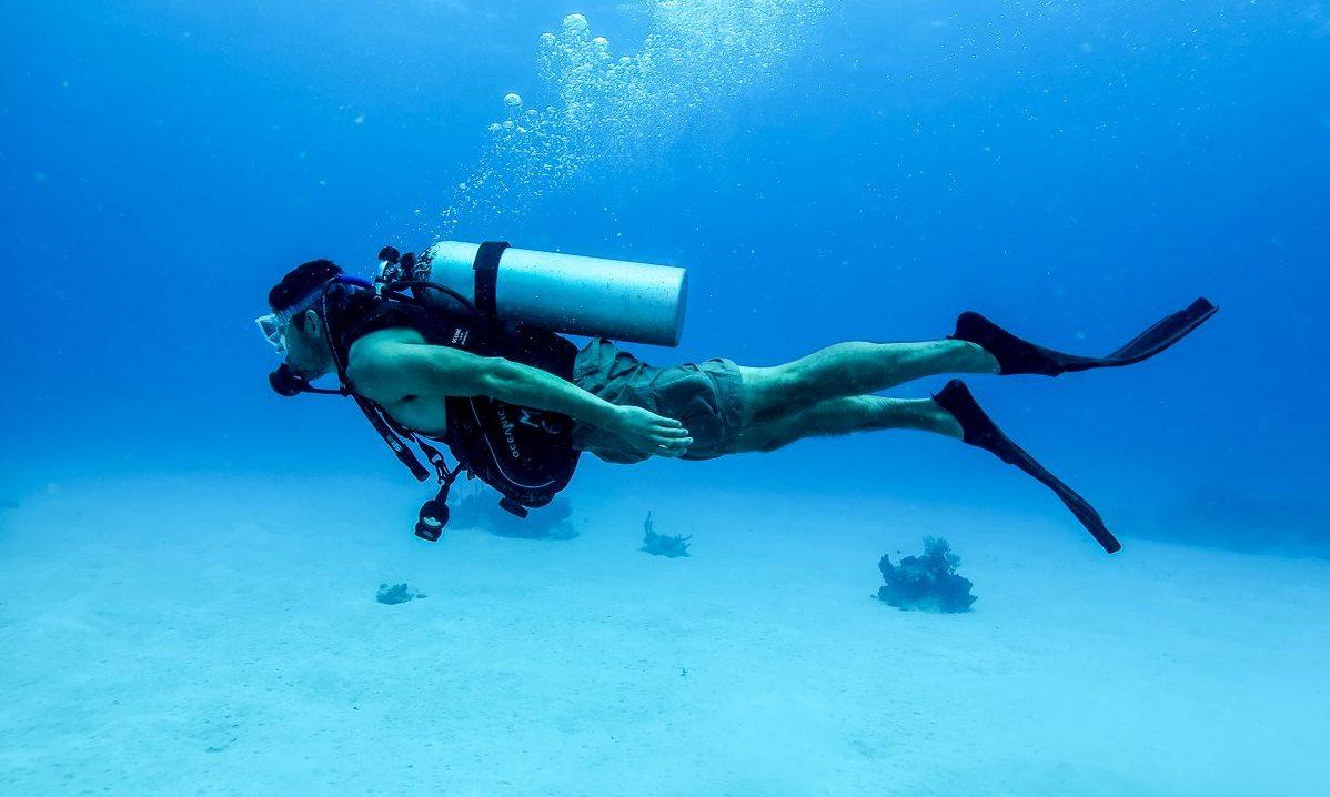 Scuba Diver in St. John