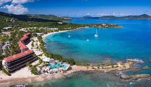 aerial view of Sapphire Bay, St.Thomas, US Virgin Islands